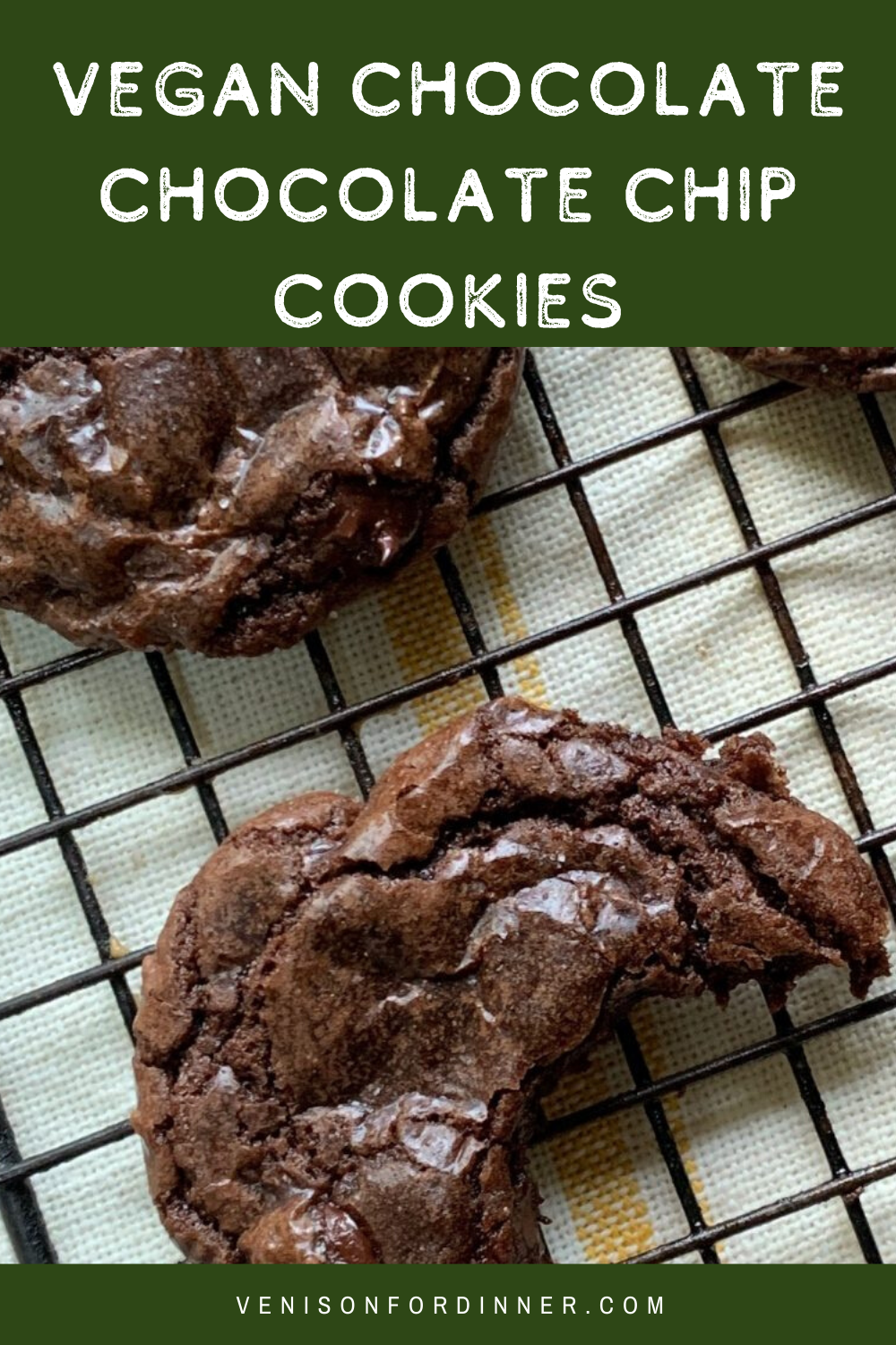 vegan chocolate chocolate chip cookies