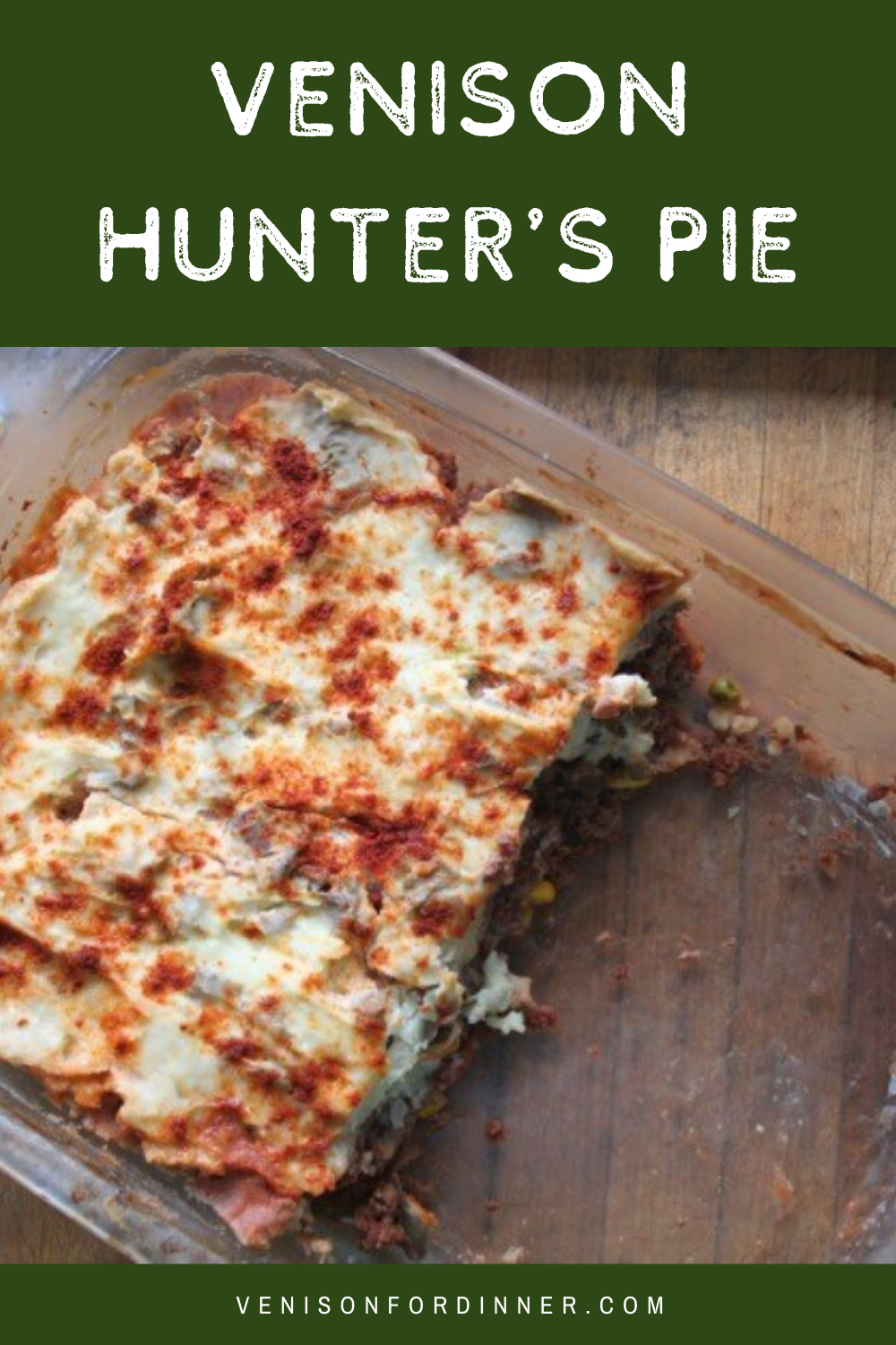 venison hunter's pie
