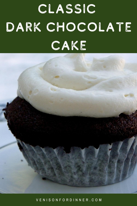 classic dark chocolate cake cupcakes