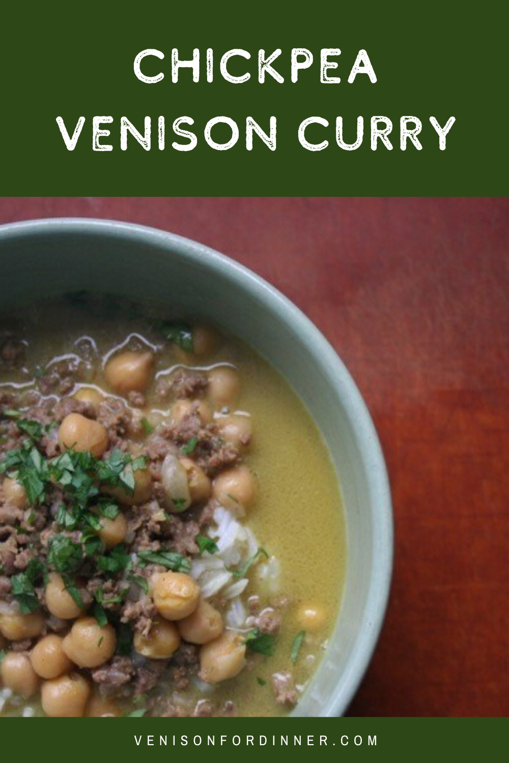 chickpea venison curry