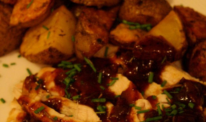 Date and Rosemary Roast Chicken