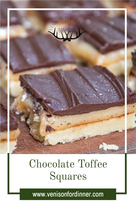 layered chocolate coffee squares on cutting board