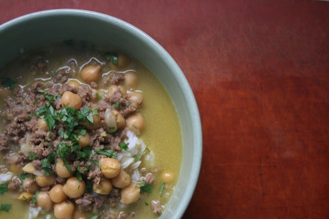 Venison and Chickpea Curry