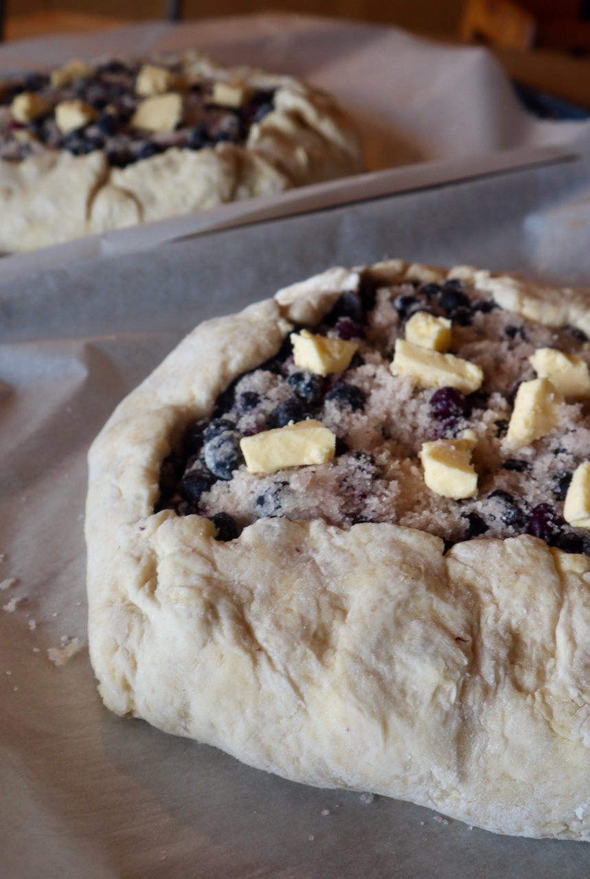 berry blueberry saskatoon berry pie butter pastry