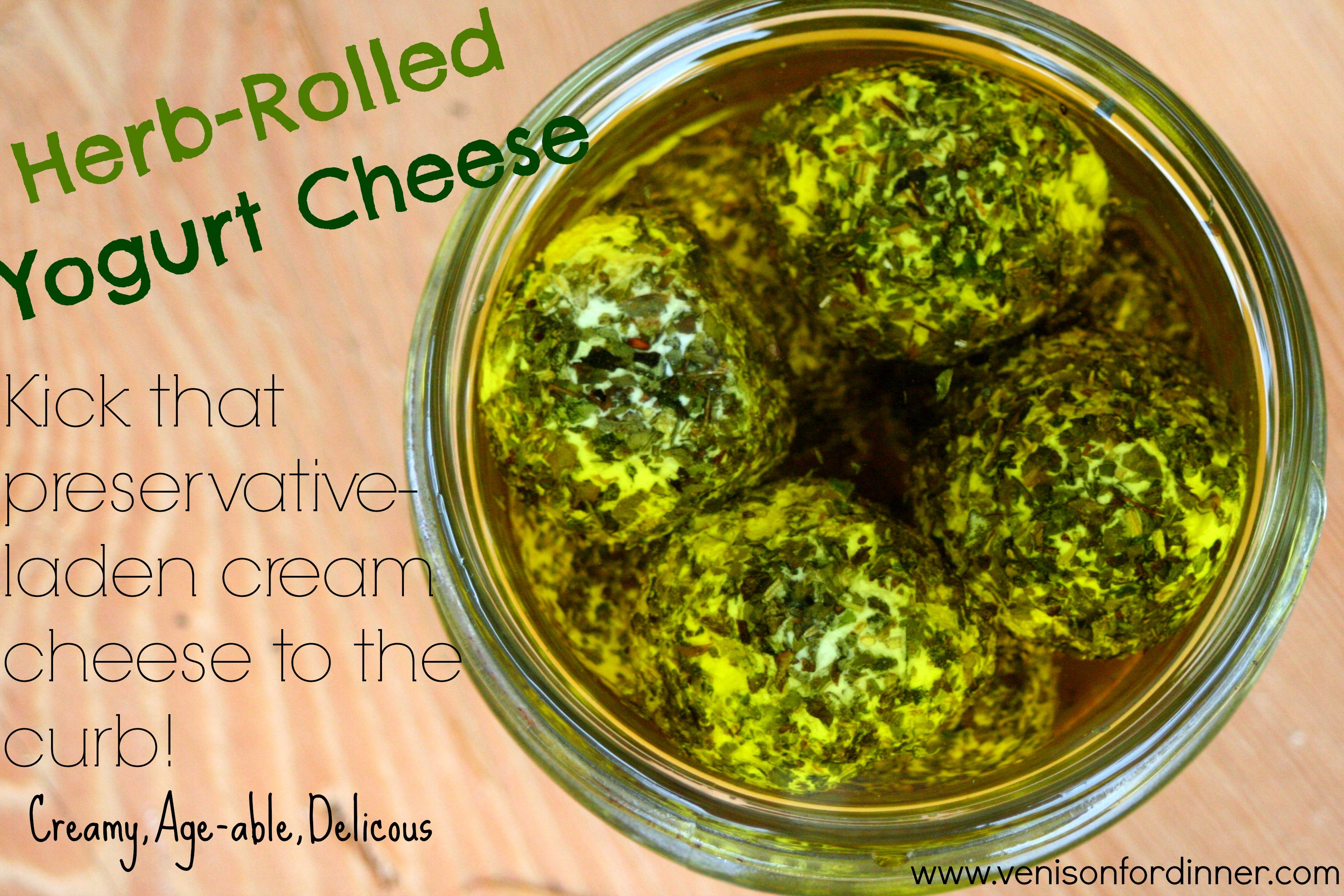 Herb Rolled Yogurt Cheese