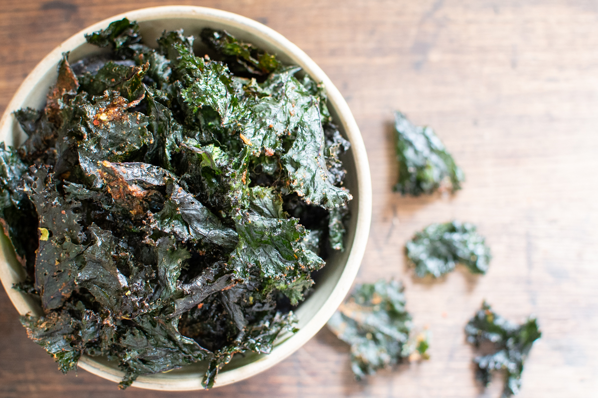 Kale Chips Made in the Dehydrator