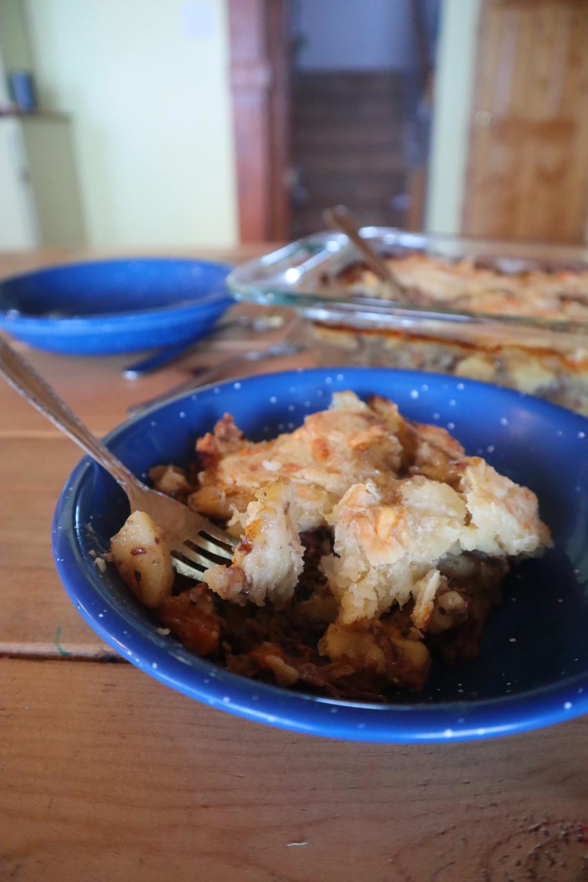 pot pie cheddar crust wild game venison elk
