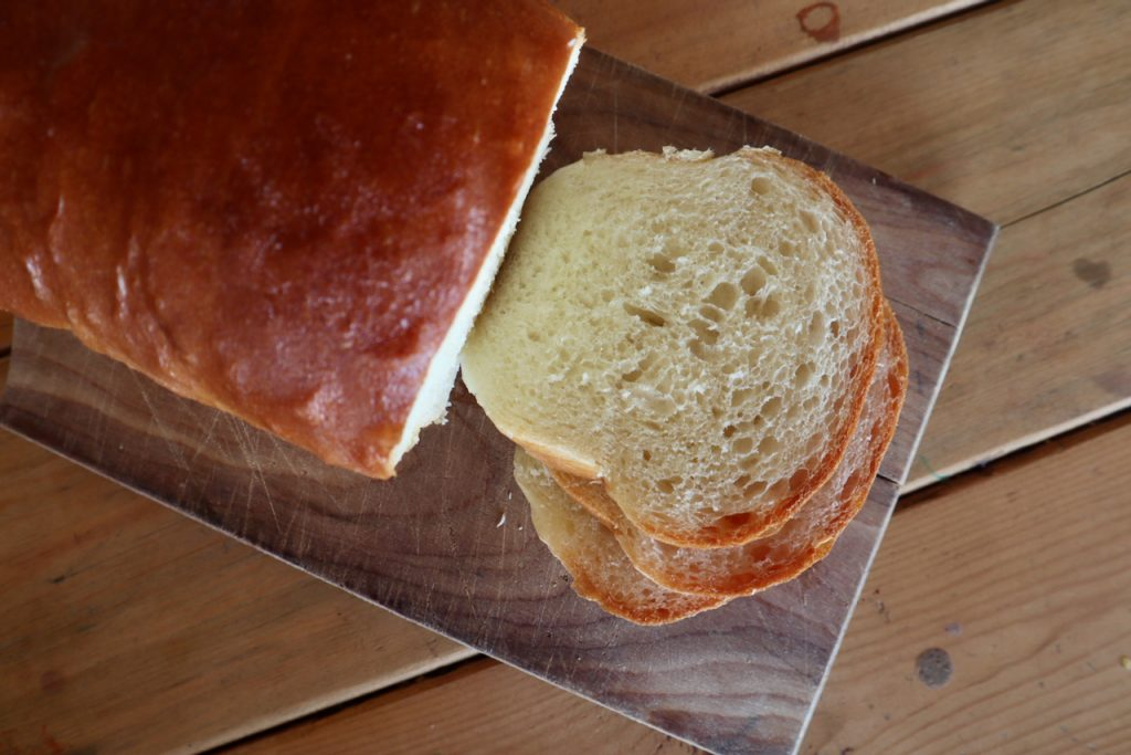 white fluffy crustless sandwich bread