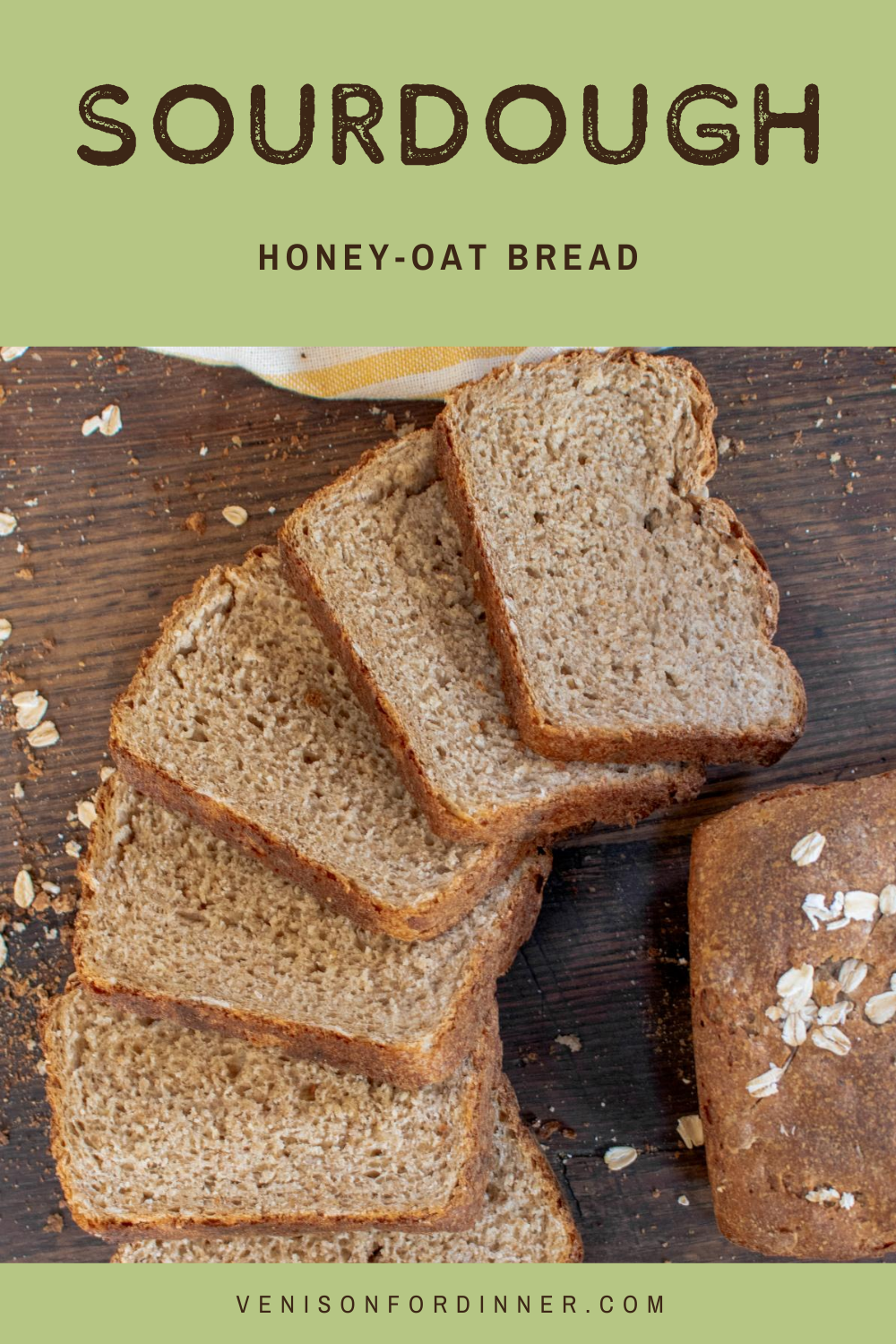 sourdough honey oat bread
