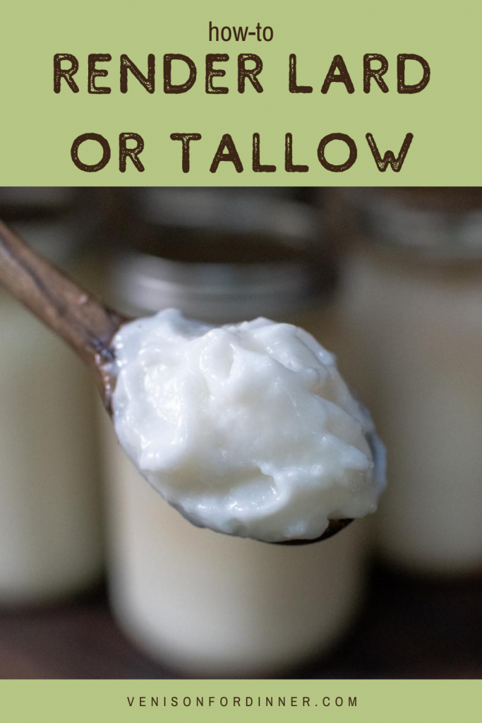 how to render lard or tallow
