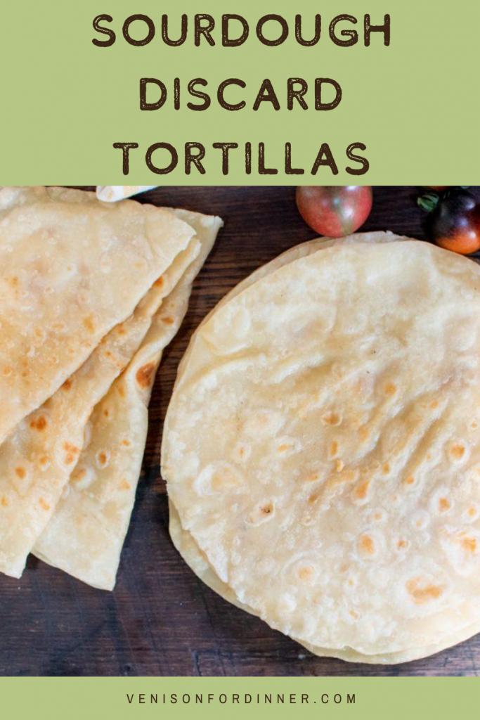 sourdough starter discard tortillas