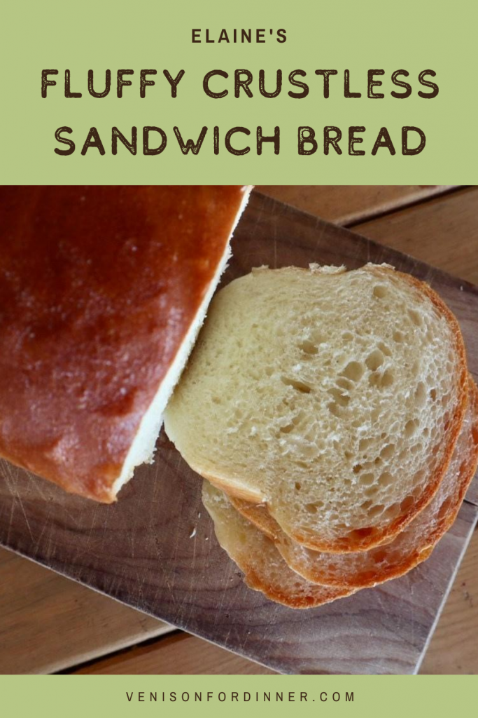fluffy crustless sandwich bread