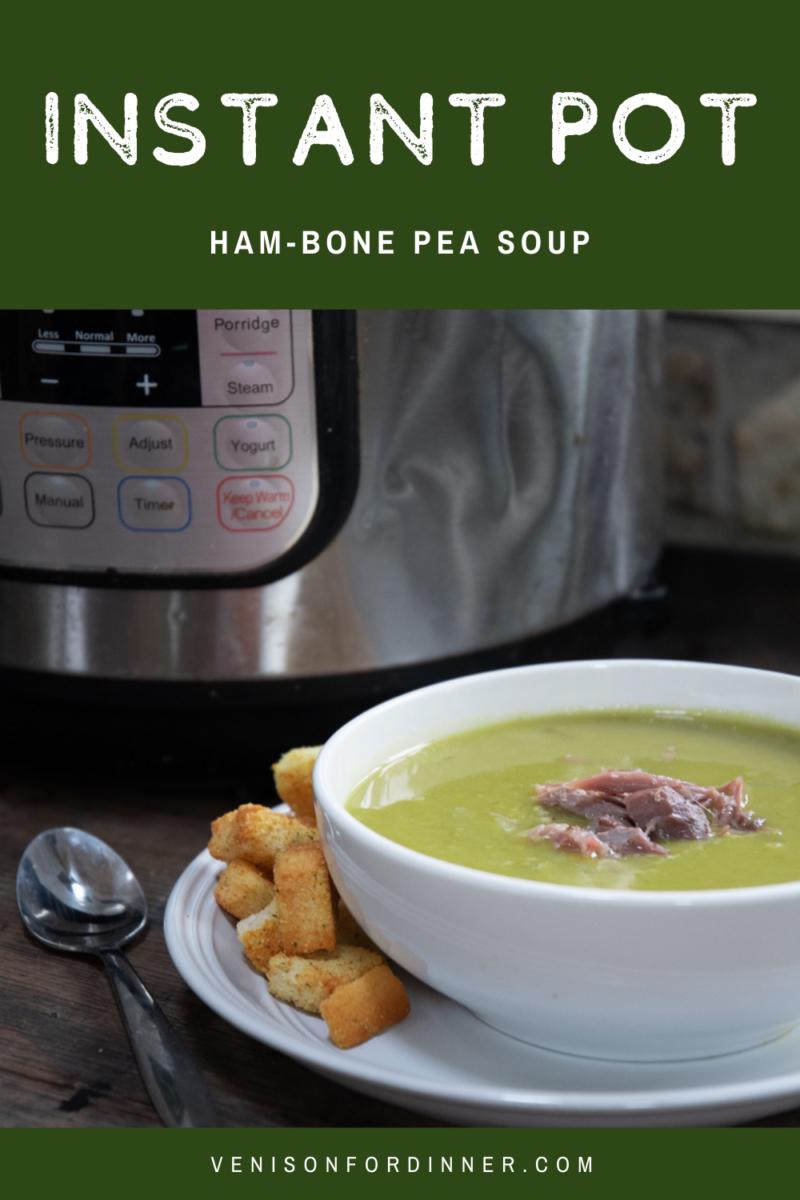 Instant Pot Hambone Pea Soup