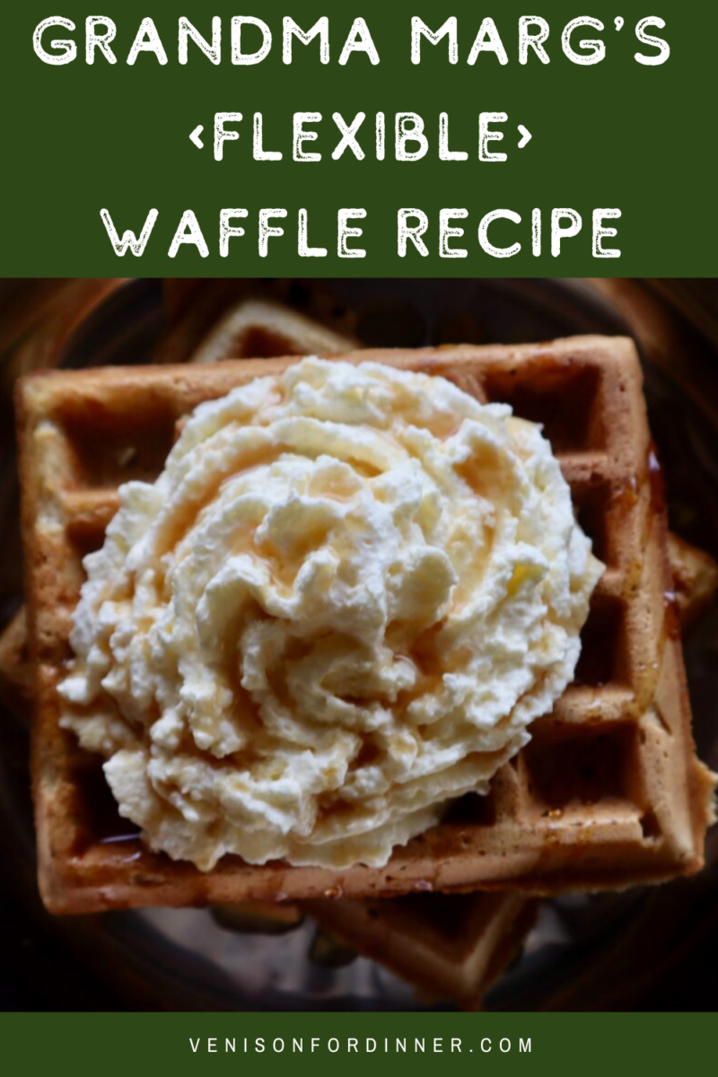 waffles whipped cream