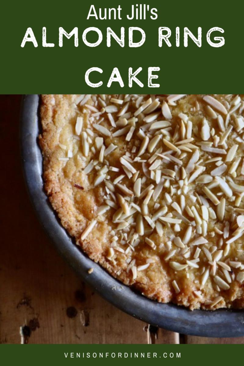 almond ring cake shortbread cookie dutch boterkoek
