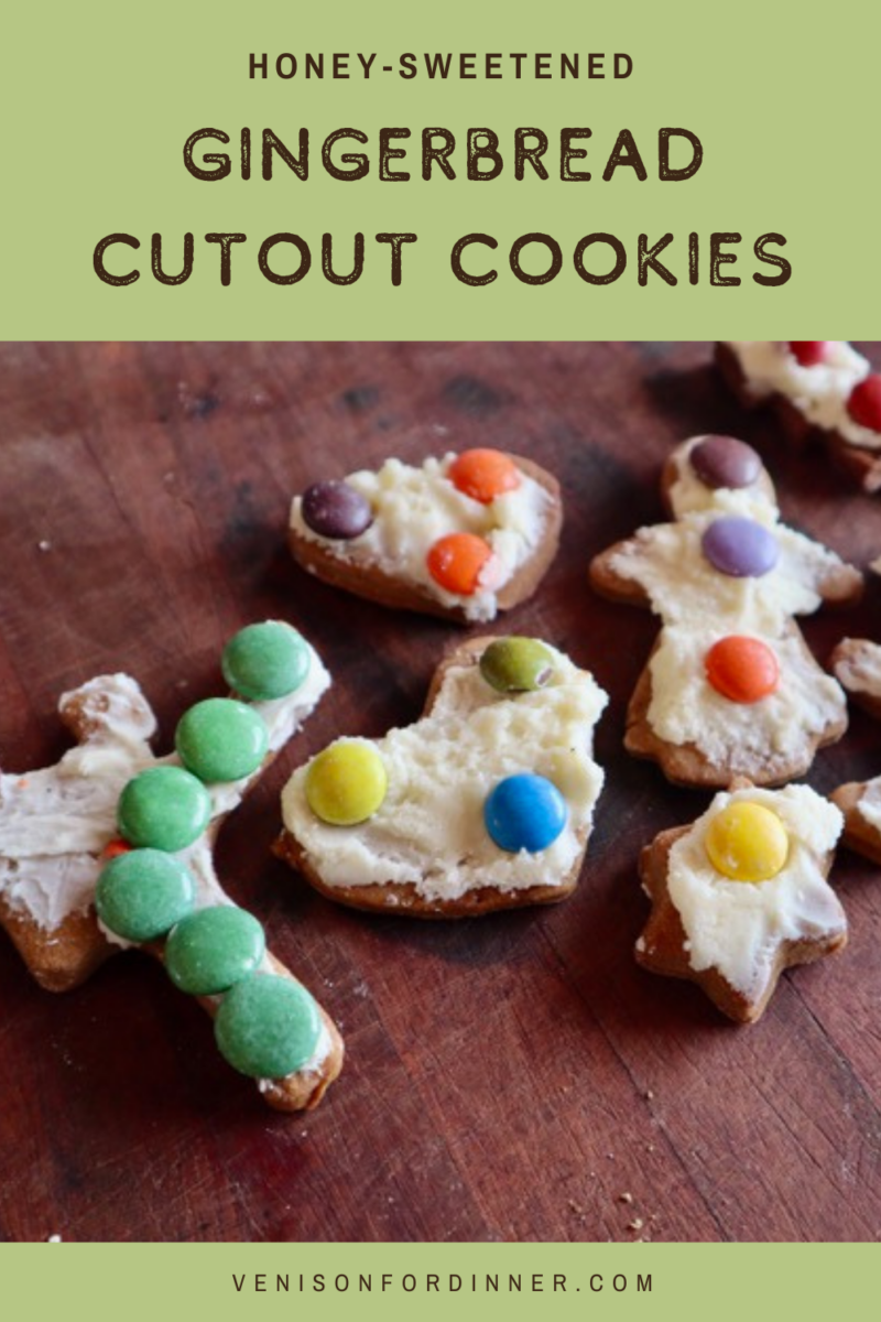 gingerbread cutout cookies refined sugar free honey sweetened