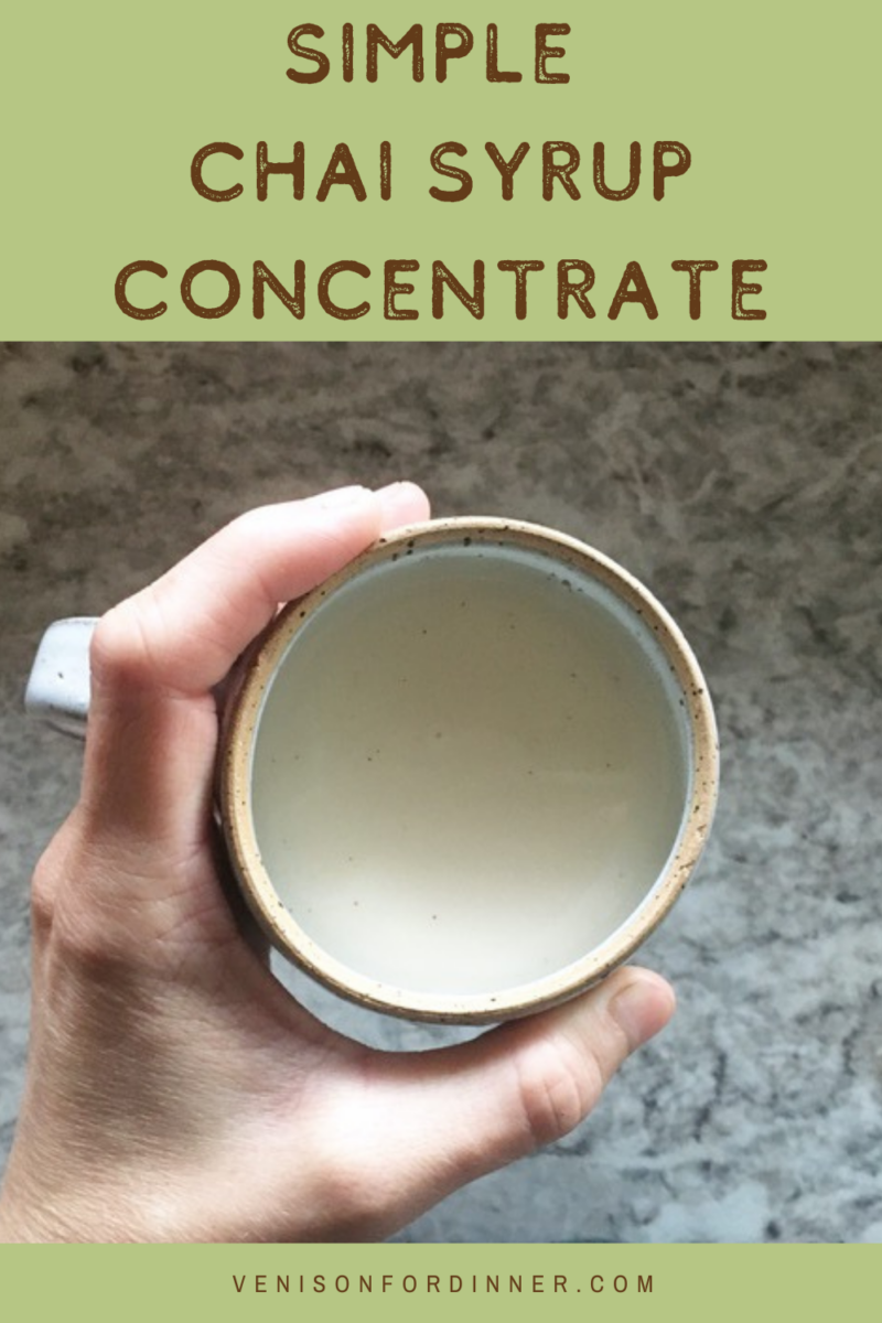 chai syrup concentrate recipe chai tea