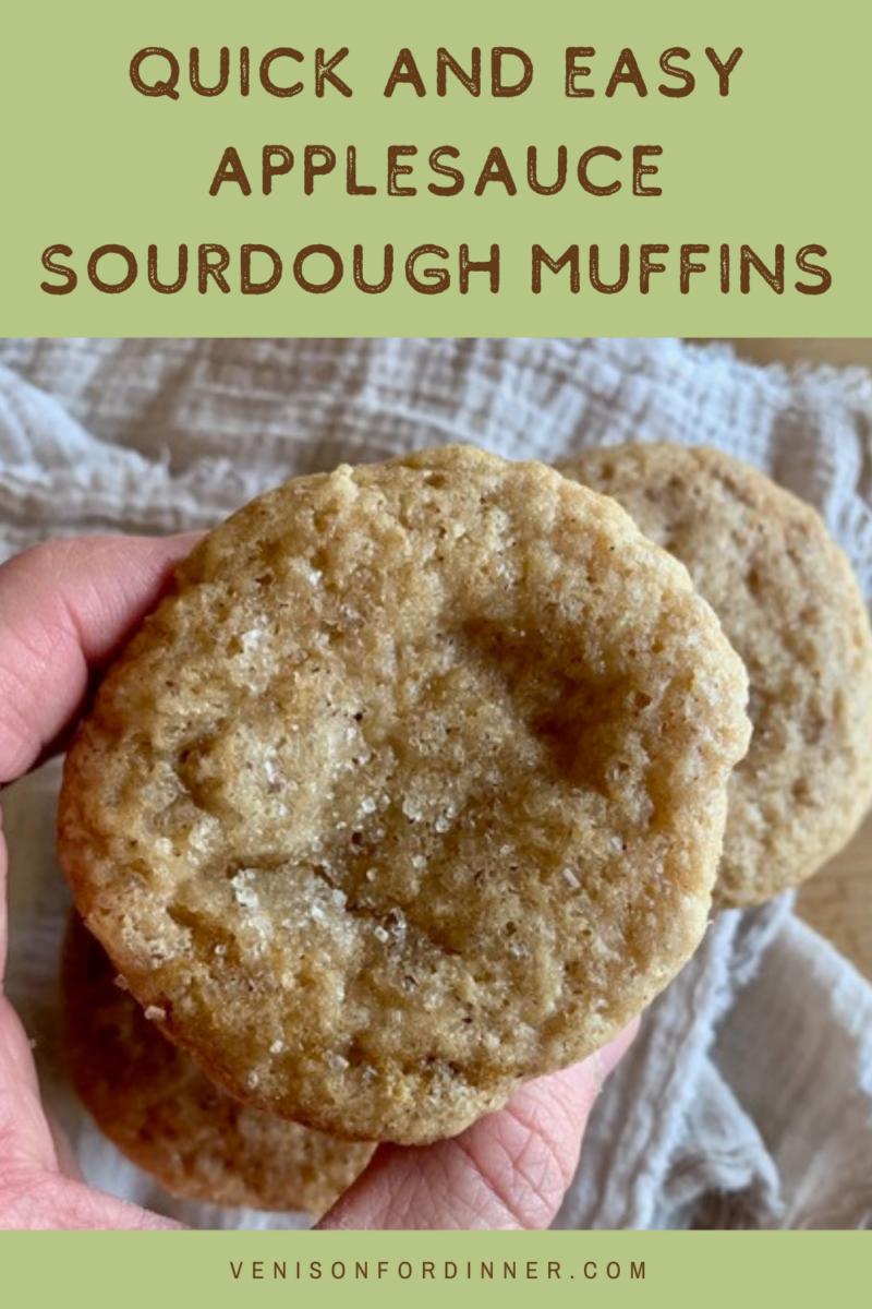 quick easy sourdough applesauce muffins
