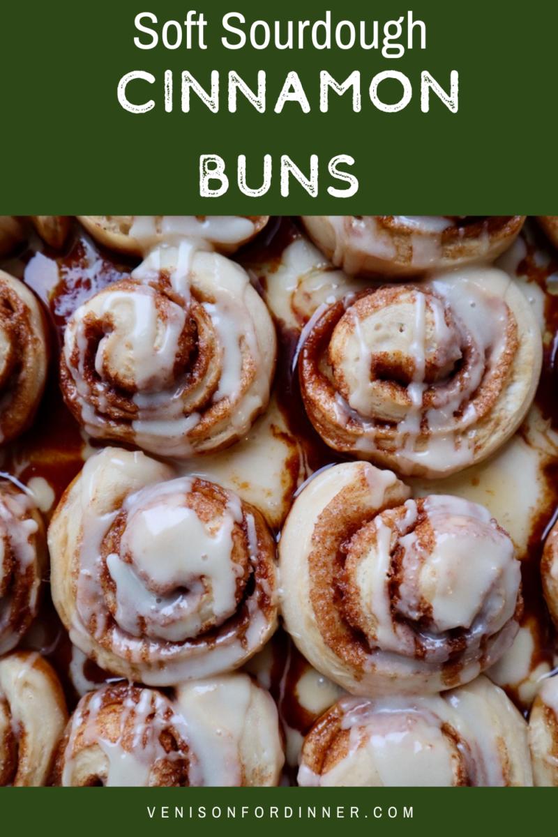 soft sourdough cinnamon buns